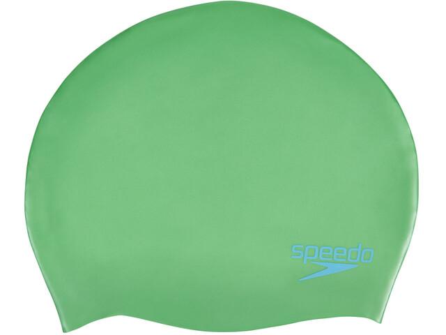 speedo Plain Moulded - Bonnet de bain Enfant - vert